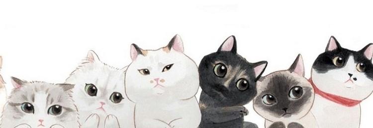 Рисунок разных кошек