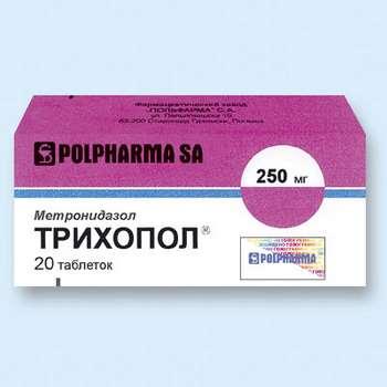 Таблетки трихопола